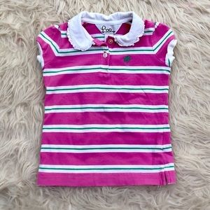 Lilly Pulitzer Pink Striped Polo Top 2T
